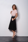 A- line black elegant skirt to work VEGA with pockets