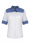 Blue and white shirt with a collar SMART Look