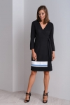 Elegant formal black wrap dress CALA