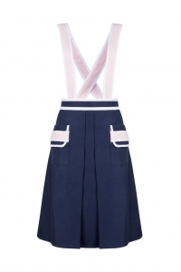 Dark blue skirt with straps ELLE I