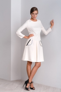 Modern dress with box pleat Clara