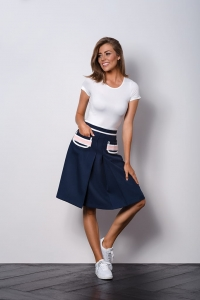 Navy blue skirt to work  MODERN CLASSIC I