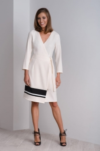 Cocktail cream-coloured wrap dress – CALA