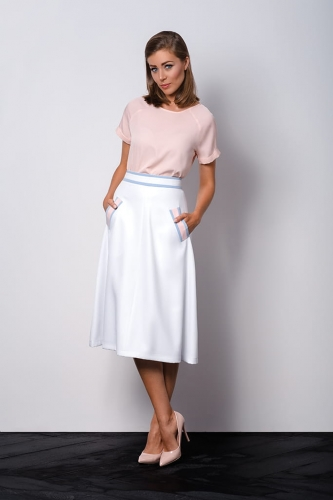 79cf6a53d468 White elegant midi skirt with chic pockets