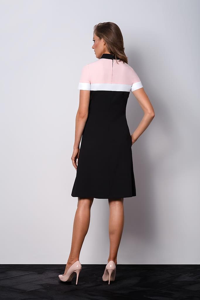 64f903f86ef3 Elegancka czarna wizytowa sukienka z kołnierzykiem POLO II. AB-063.jpg.  AB-063.jpg  AB-061.jpg  AB-062.jpg ...