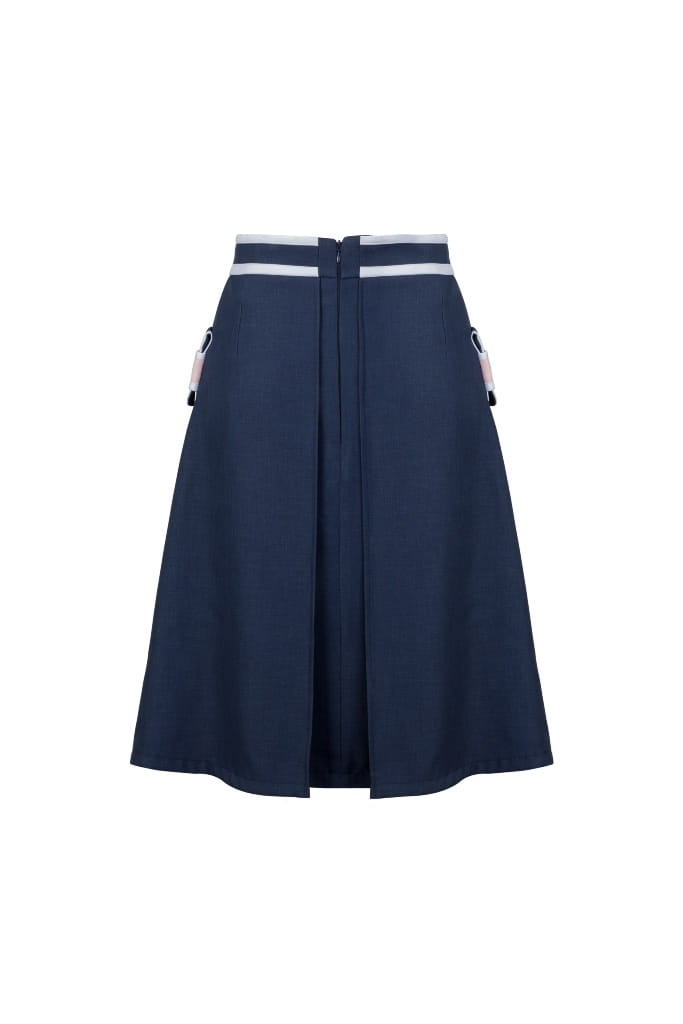 Elegant dark blue skirt to work MODERN CLASSIC