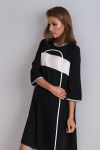 Simple oversize black tunic Nona