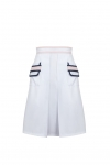 Sport white skirt with fancy pockets MODERN CLASSIC I