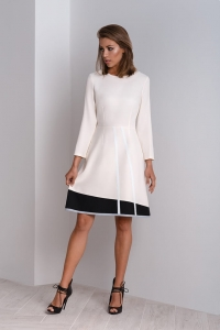 Cream classic dress to work Catrise