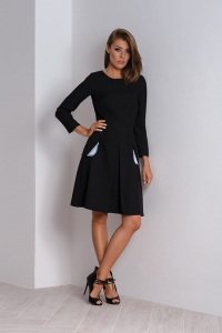 Modern dress to work with box pleat Nubi
